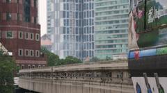 Monorail in Kuala Lumpur - stock footage