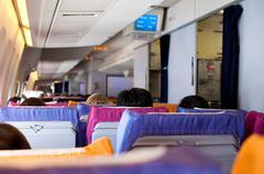 Aircraft interior - stock photo