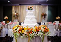 Beautiful wedding reception Stock Photos