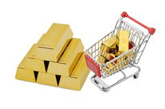 Gold shopping - stock illustration