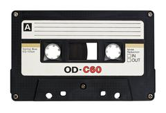 Retro cassette - stock photo