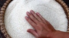 Clean rice after milling Stock Footage