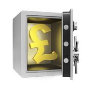 Pound Safe Stock Illustration