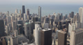 Chicago Skyline Aerial View Modern Skyscrapers Corporate Office Towers Roofs Footage
