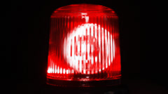 Red emergency light flashing Stock Footage