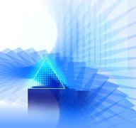 Background-blue-nano-neon Stock Illustration
