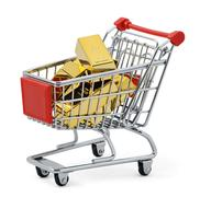 Stock Illustration of Gold shopping