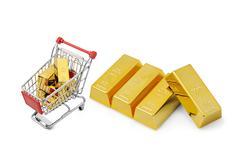 Gold shopping - stock illustration