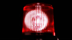Red emergency light flashing - stock footage