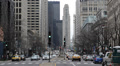 Car Traffic Jam People Commuting Crowded Road Commuters Chicago Magnificent Mile Footage