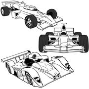Racing Cars - stock illustration