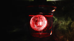 Red emergency light flashing in a smoke. Stock Footage