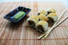 Salmon Avocado Roll Sushi - stock photo