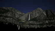 Stock Video Footage of 4K Moonbow Timelapse 03 Yosemite Falls California USA