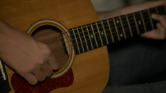 Man playing classical guitar Stock Footage