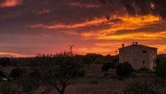 Majorca countryside sunset time lapse HD - stock footage
