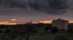 Majorca countryside sunset 4K - stock footage