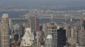 Cityscape Aerial View New York City NYC Daily Skyscrapers Architecture Above USA Footage