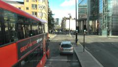 Timelapse Thought the Financial City of London streets Stock Footage