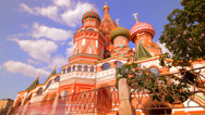 Stock Video Footage of sunny Moscow kremlin time lapse