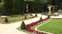 Park near the Linderhof Palace. Bavaria, Germany. Stock Footage