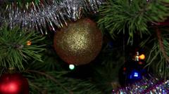 Christmas tree twinkle lights, FULL HD Stock Footage