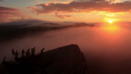 Stock Video Footage of Timelapse sunrise in the mountains Ai-Petri.
