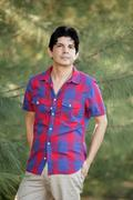 Man in a colorful shirt Stock Photos