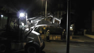 Stock Video Footage of Road Resurfacing at Night 1 of 8