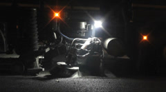 Stock Video Footage of Road Resurfacing at Night 3 of 8