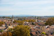Stock Photo of view over avignon, france