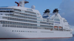 Cruise ship side view Stock Footage