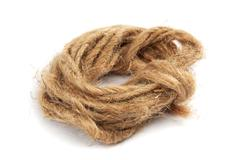 Coil of rope isolated on a white background. Stock Photos