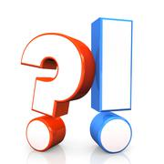 Stock Illustration of question answer