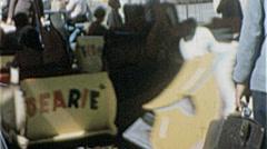 Animal Cartoon KIDS RIDE Amusement Park FUN 1950s Vintage Film Home Movie 7237 - stock footage