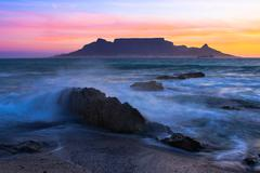 The colors of table mountain Stock Photos