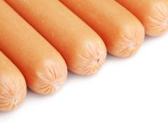Stock Photo of fresh sausages