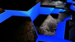Blue neon tile Stock Footage