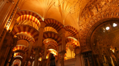 Mosque-Cathedral in Cordoba, Spain Stock Footage