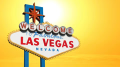 Las Vegas Sign Sunset Time Lapse Stock Footage