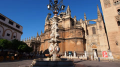 Cathedral in Seville, Spain Stock Footage