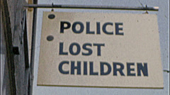 MISSING CHILD Police Help Assist Children Kid 1950s Vintage Film Home Movie 7241 Stock Footage