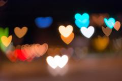 Out of focus area in heart shape Stock Photos