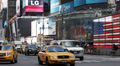 Junction Broadway 7th Ave Times Square Broadway Theaters LED signs Car Traffic Footage