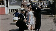 LOST CHILD Police Help Assist Children Kid 1950s Vintage Film Home Movie 7242 Stock Footage