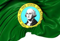 flag of washington - stock illustration