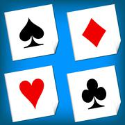 Playing card's signs vector Stock Illustration