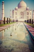 taj mahal , a famous historical monument, a monument of love, the greatest wh - stock photo