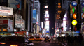 Establishing Shot New York City Times Square Illuminated Night NYC Cars Traffic Footage