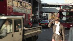 City Commuters and Traffic 1 Stock Footage